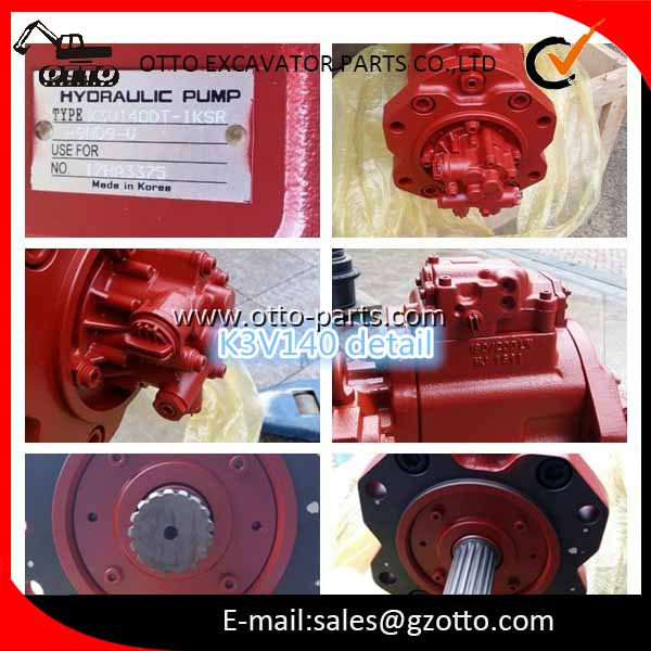 KAWASAKI K3V140 Hydraulic Pump Assembly Use For Volvo EC290B