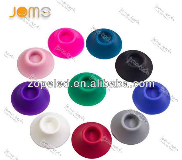 In stock 10 colors e cig accessories silicon sucker base for eGo battery/atomizer/tip/bottles display pen vape silicone sucker