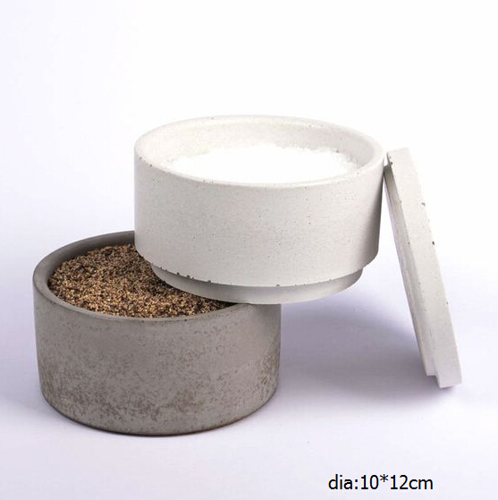 Kitchen Accessories Concrete fold salt and pepper cellar