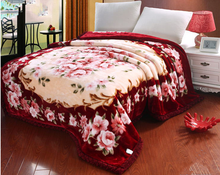 100% Polyester/Acrylic hot sale adults bed set raschel blanket