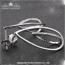 Wholesale Best Price Fashion Women Accessories Charming 925 Sterling Silver Earring Designs