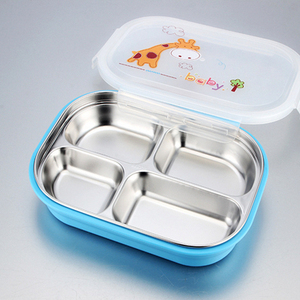 Factory Wholesale Metal Food Storage Bowls Stainless Steel Dishes For Toddlers