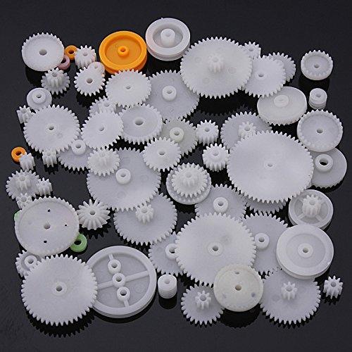 Kitchen Appliance Parts New 60pcs Type Plastic Shaft Single Double Reduction Crown Worm Gears Diy Robot