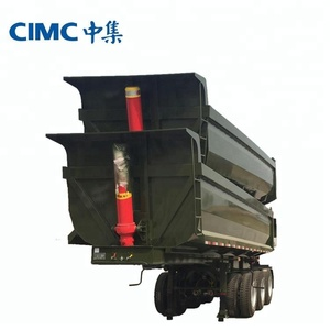 CIMC Brand Tri-axle 40 Ton Side Tipper Chassis Semi Trailer For Export Sale