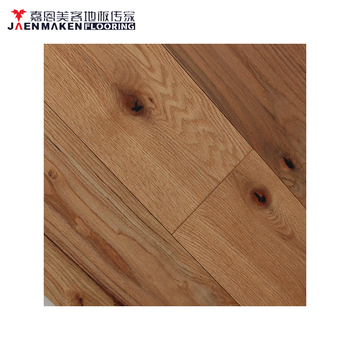 Wide Plank Red Oak Hand Scraped Wire Brushed Solid Wood Flooring