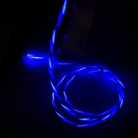 Factory price 1m mobile phone flashing led cable 1m led usb cable 1m led cable best price