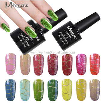 Newest Product Nail Art Shiny Nail Polish Crackle Gel Polish Buy