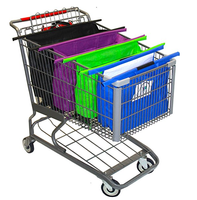 Vegetable Shopping cart trolley bag a set of 4 detachable and reusable grocery bag fit in a shopping cart