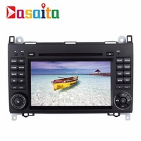 "Dasaita 7"" inch Android 7.1 car gps navigation system dvd center multimedia player for Benz Series With WI-FI 3/4 G headrest"