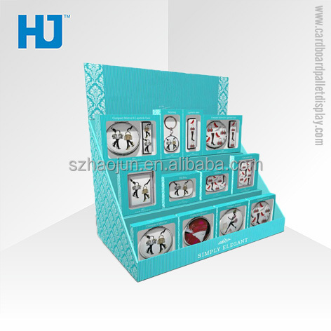 Blue Counter Display Boxes to display CD or Photo Frame Postcard Elegantly