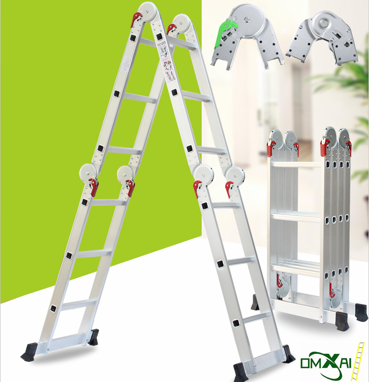 Augest hot sell multifunction aluminium ladder 4x3 4x4 4x5 steps