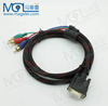 VGA(15pin HD)to 3RCA male cable male to male AV cable 1.5m