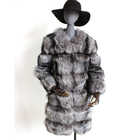 Myfur New Fashion Winter Warm Whole Pelt Design Silver Fox Fur Coat for Women