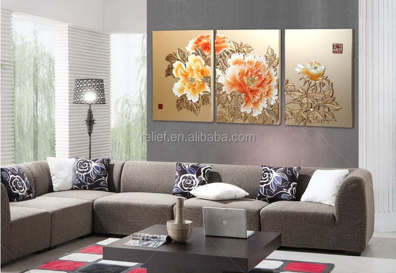 Classical acrylic wall art flower of Abstract art canvas how to paint a abstract painting C8010A