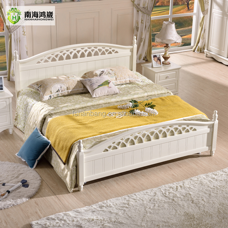 2016 latest storage bed furniture wooden double bed for Double bed design photos