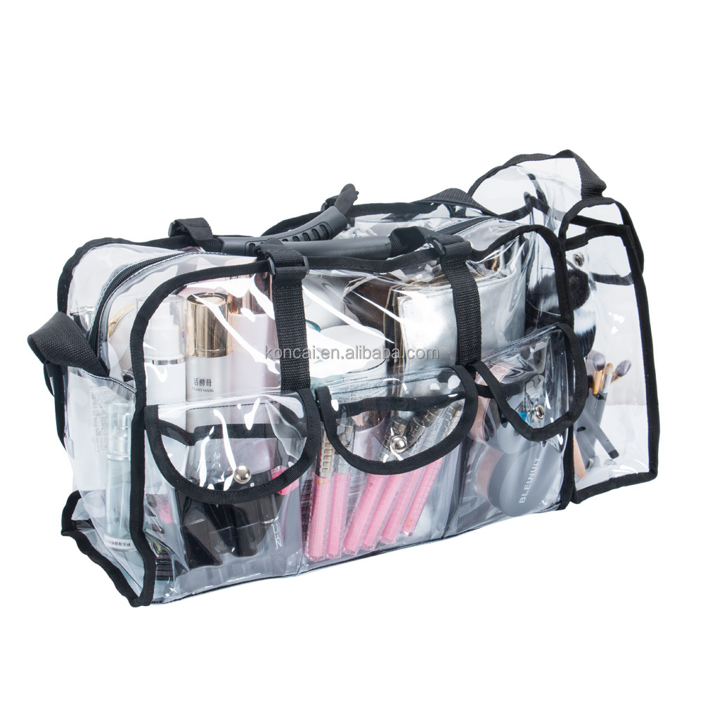 Clear PVC Hand Carry Make Set Transparante Cosmetische PVC Draagtas