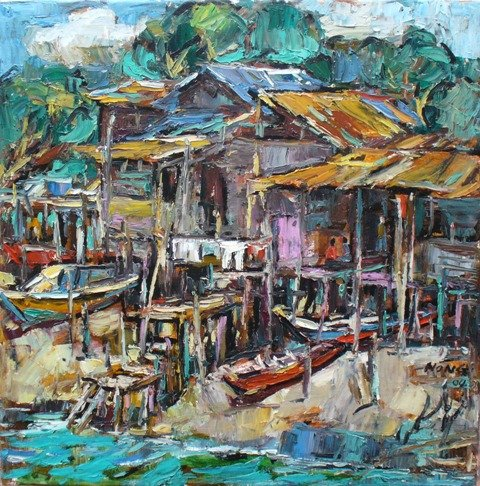 oil painting from malaysia famous artist buy oil painting product