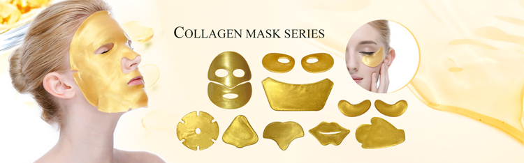 Iso22716 Composants Facilement Absorbé D'or Pur Masque/pur Masque/24 k Or Cristal Collagène Masque Facial Soins De La Peau