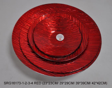 red Glass Plate Chargers Wedding Decorative Charger plate for wedding decoration