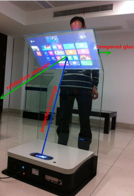 40 Quot Interactive Touch Screen Film On Glass Transparent