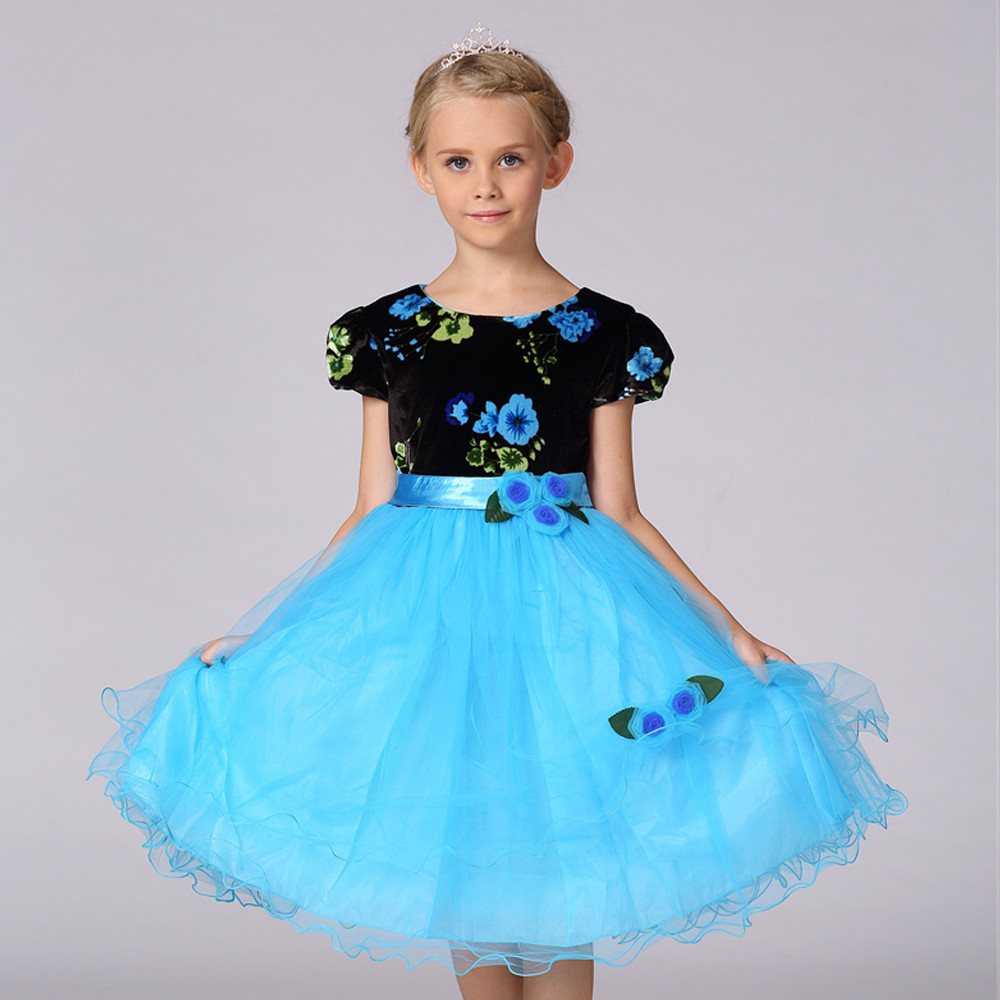 Latest Children Frocks Design Laced Princess Flower Drss Baby Girl ...