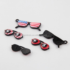 Custom Black Paint Enamel Charms American Eyeglass Sexy Dollar Charms for Jewelry Making