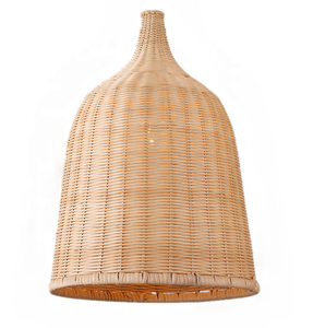 American vintage retro hanging ceiling lights indoor handmade rattan bamboo lamp shade pendant lamp for dinning room