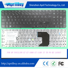 Replacement laptop keyboard for HP Pavilion G7 G7-1000 G7-1100 IT/TR/PO/BE layout keyboard