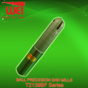 Ball Nose Precesion End Mills for T2139BF Series with inserts P3200