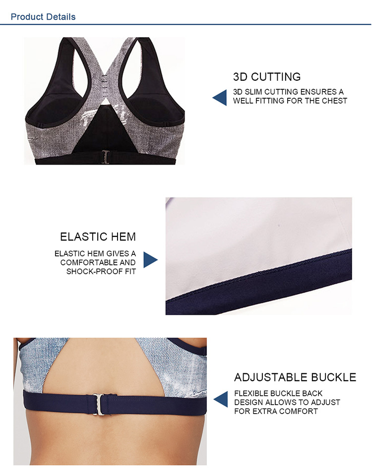 Custom yoga wear sexy gym clothing wholesale sports bra