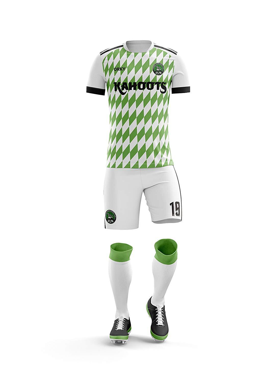 31b316754 Get Quotations · ORKY Custom Soccer Uniform Nigeria National Style Men Kid Soccer  Jersey Short Youth Football Team Set