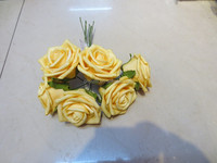 Colorful hand made foam flowers &silk flowers for decoration