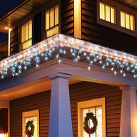 Ideal for indoor and outdoor 8 use High Quality LED Snowing Icicle string light Christmas lights For Decorateion