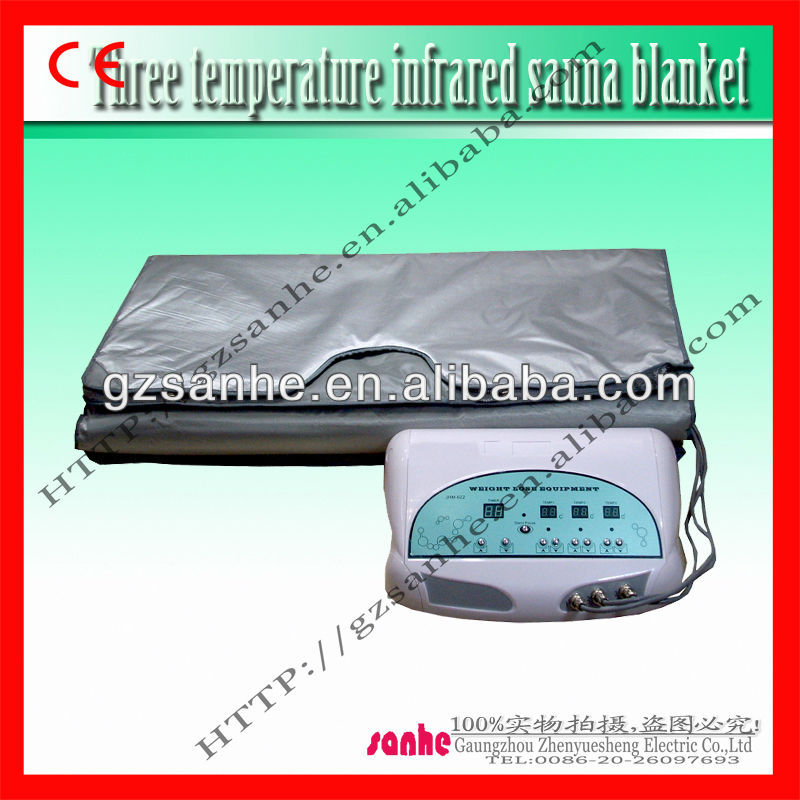 portable far infrared thermal heated body slimming sauna blanket