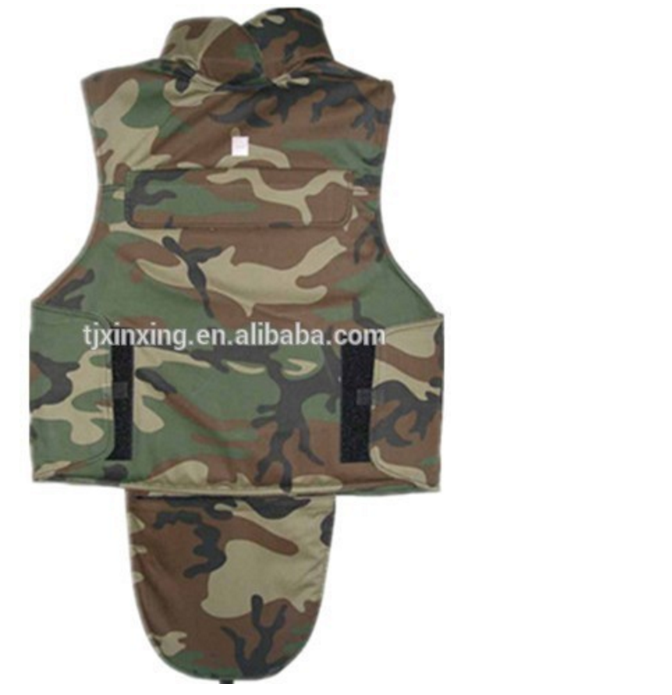 military Full protection level3 ballistic vest with bulletproof groin protection