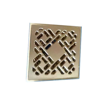 Square floor drain Automatic floor drain bathroom brass floor drain