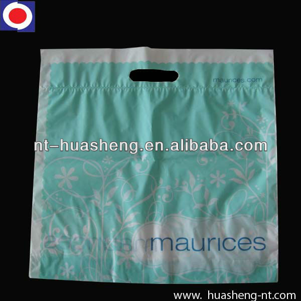 HDPE die cut shopping bags for clothing
