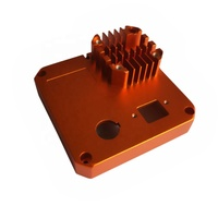 High Precision Customized Orange Anodized CNC Machining Milling Deep Processing Aluminum Profile Extruding Heatsink