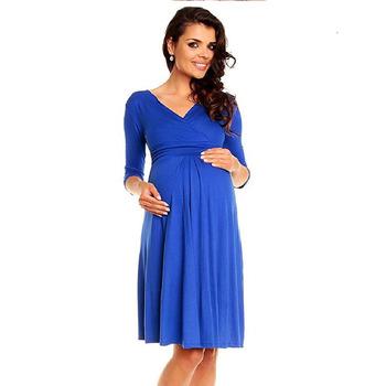 V-Neck Sexy Maternity Clothing Short-sleeved Maternity Dresses Pregnant  Women Dresses Nursing Wear 17ddb8eb6d98