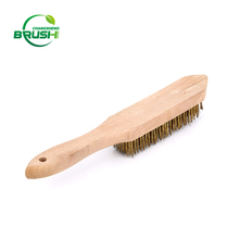 Machine rust cleaning wooden handle stainless steel wire brushes
