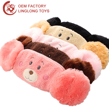 Children warm fluffy respirator mask winter mouthmask with earmuff children warm fluffy respirator mask winter mouthmask with earmuff earcap cold proof cycling teddy bear altavistaventures Images