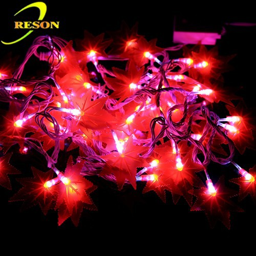 LED Maple Leaf String Fairy Light For Christmas Holiday Decoration