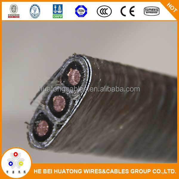 High quality lead sheath copper conductor submersible oil pump cable