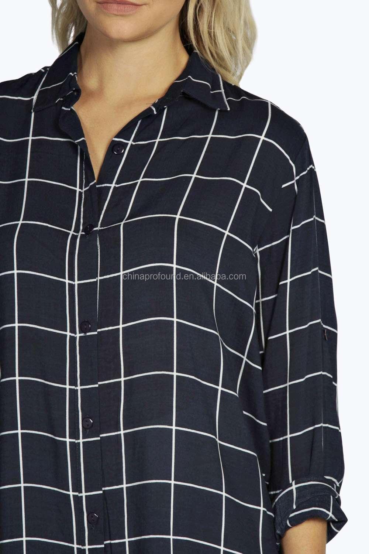 Shirt design ladies - Ladies Printed Checked Shirts Plaid Shirt Girls Custom New Checked Shirt Design