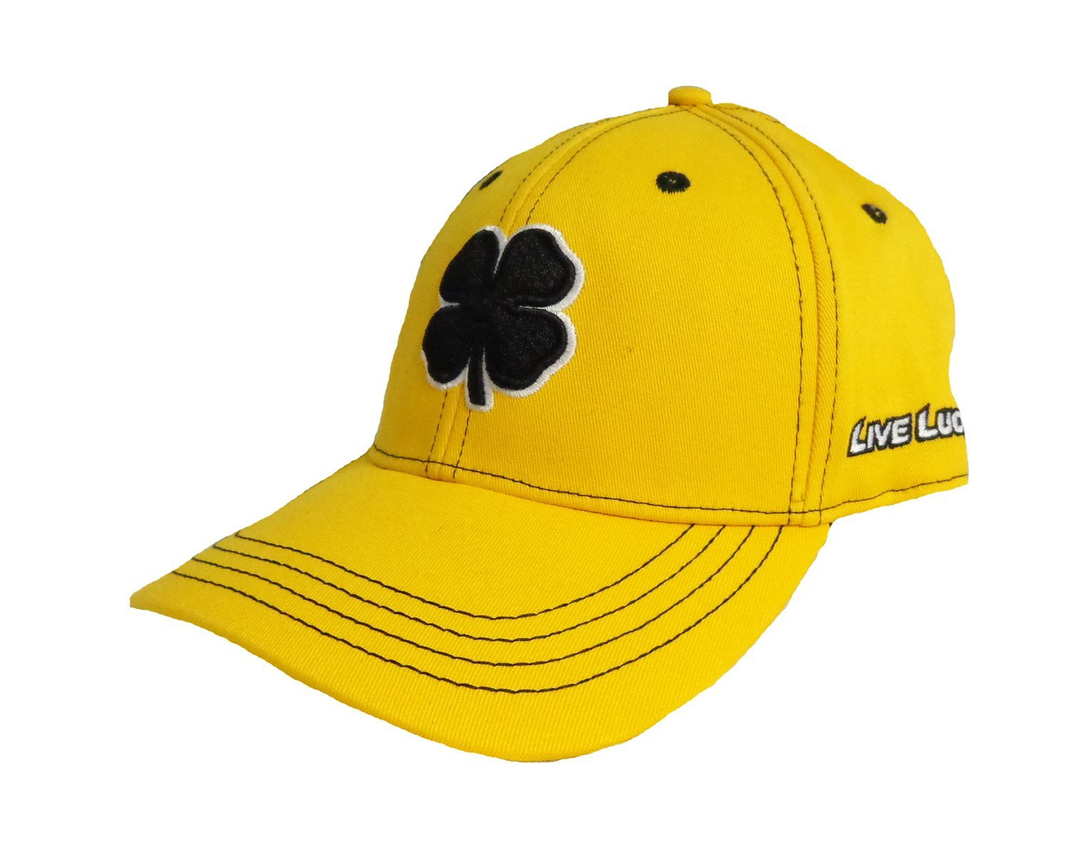 7585bcedbc7 Get Quotations · NEW Black Clover Live Lucky Front And Center Black Yellow  Fitted (M) Hat