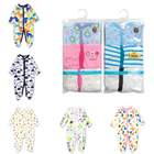 Wholesale Cheap 3 Pack Cotton New Born Baby Clothes Girl Boy Kid Pajama Jumpsuit Romper Sleepsuits