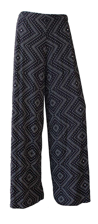 5720d7586de10 Get Quotations · OgLuxe Plus Size Women s Print Palazzo Wide Leg Flared  Ladies Trousers Pattern Pants ...