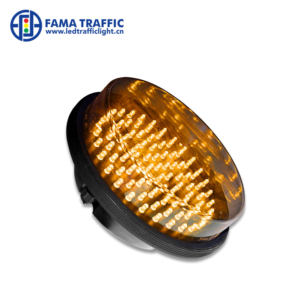 Traffic Light 4inches 100mm Yellow Amber Led Traffic Lamps Mini Traffic Signal Light Module Led Replacement Lights Pc Plastic Housing Available In Various Designs And Specifications For Your Selection