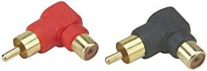 Install Bay - Mini Right Angle RCA-Barrel Connectors, 10 pack
