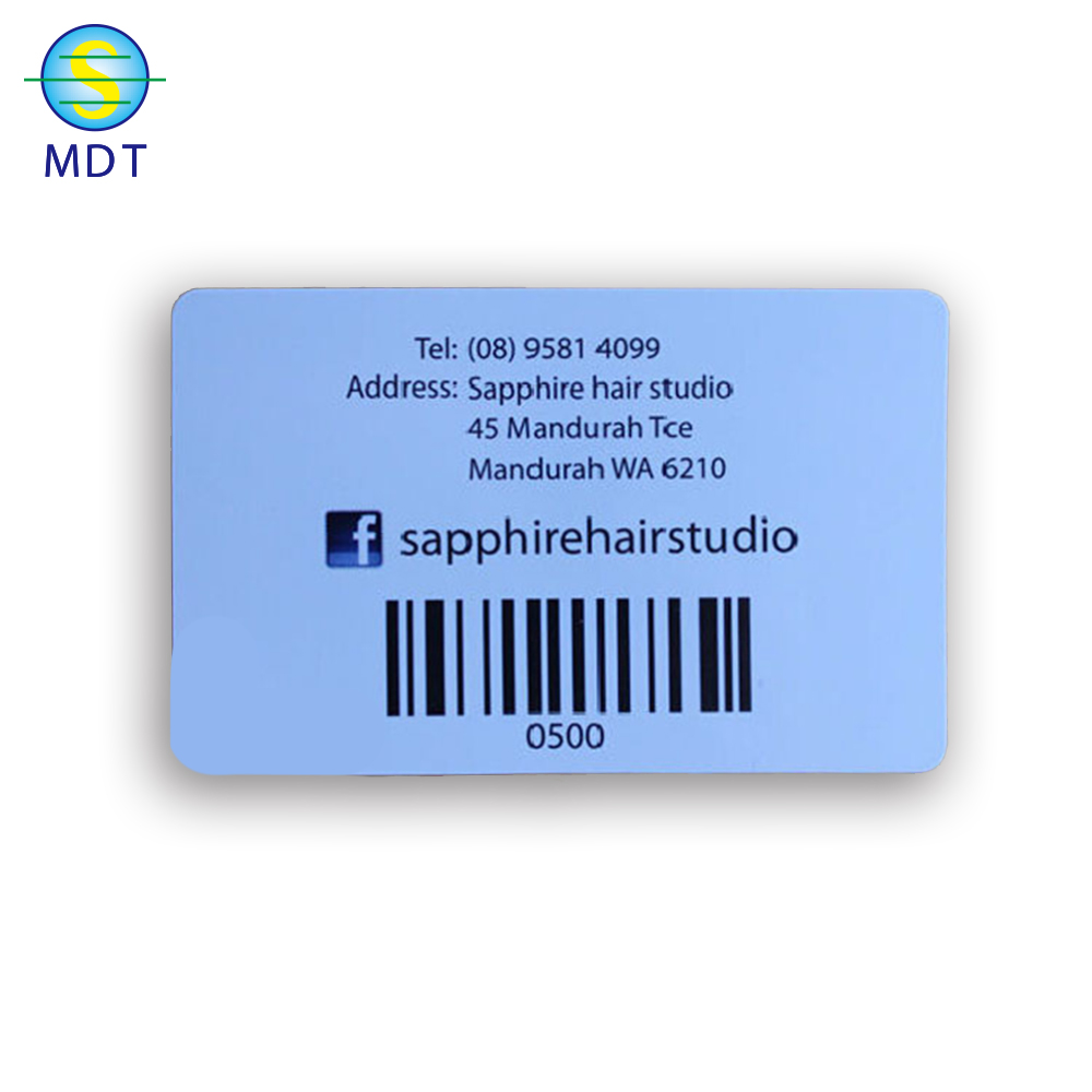 tailor made plastic barcode card 2020